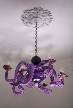 Octopus chandeliers by Adam Wallacavage -- Is this Stanley??? @Trisha Sierra you and Nick need this :)