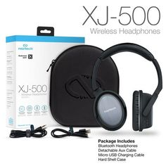 7c7a3dcee76 XJ-500 Wireless Headphones Audiophile, Wireless Headphones, Bluetooth,  Headset, Charger,