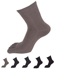 Cotton Crew Women 6 Pack Fingers Toe Socks Elastic Sports Soft Wicking >>> To view further for this item, visit the image link.