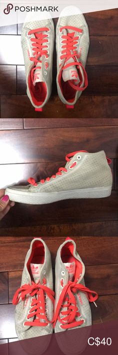 Shop Women's adidas size Sneakers at a discounted price at Poshmark. With a spare set of shoe laces! Adidas Shoes, Shoes Sneakers, High Angle, Flat Shoes, Adidas Women, Orange Color, Plus Fashion, Fashion Trends, Neon