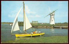 (22813) Vintage 1960s Postcard. River Thurne & Thurne Mill, Norfolk Broads | eBay