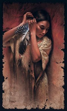 Taino Indian Tattoos – The Timeless Style of Native American Art Cherokee woman Native American Paintings, Native American Pictures, Native American Beauty, Indian Pictures, American Indian Art, Native American History, American Indians, American Symbols, Cree Indians