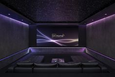Home cinema, by DESIGN.HOME in cooperation with on-Home home automation www.on… – Home Theater Design Basics – Best Home Theater Design Ideas Home Theater Room Design, Home Cinema Room, Home Theater Setup, At Home Movie Theater, Home Theater Rooms, Home Theater Seating, Theater Seats, Cinema Wallpaper, Salas Home Theater