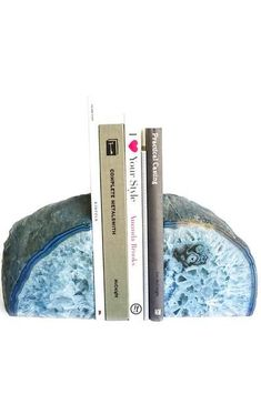 Add some beautiful jewel tones to your bookcase, desk, or console! Natural stones are known to keep a flow of positive energy around their surroundings. Diy Interior, Interior And Exterior, Geode Bookends, Diy Fan, Floor Ceiling, Agate Stone, Jewel Tones, Book Worms, Office Decor