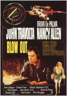 Blow Out , starring John Travolta, Nancy Allen, John Lithgow, Dennis Franz. A movie sound recordist accidentally records the evidence that proves that a car accident was actually murder and consequently finds himself in danger. #Mystery #Thriller