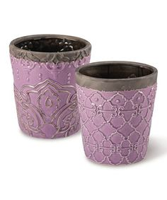 Take a look at this Grape Round Gypsy Planter Set by Foreside on #zulily today!