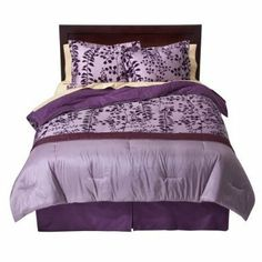 """100% Cotton Flocked Comforter Set, Full/Queen size - Purple by Modern Home. $119.99. Purple. 100% Cotton. 4 Piece Set Includes: Comforter / Bed skirt / 2 Pillow Shams. Size is 79"""" by 86"""". Fits Full & Queen. Bed Topper Features: Jump and Tack Quilting. Bedskirt Features: 15"""" Drop. Number of Pieces: 4 . Includes: Comforter, 2 Shams included in Full. Fiber Content: 100 % Cotton. Polyester. Weave Type: Plain. Fabric Treatment: Flocked. Care and Cleaning: Dry Clean. Save 40%!"""