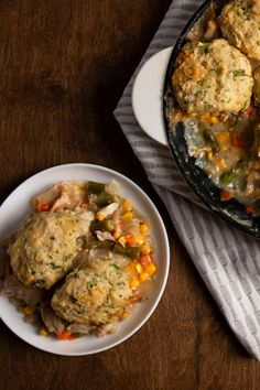 The most comforting way to use up your leftover Thanksgiving turkey this year is to bake it into our classic turkey and dumplings recipe. Turkey, mixed vegetables and homemade gravy topped with buttery herbed dumplings and baked until golden brown—pure comfort food, all made in one skillet! Easy Thanksgiving Recipes, Thanksgiving Leftovers, Turkey And Dumplings, Dumpling Recipe, Leftover Turkey, Mixed Vegetables, Golden Brown, Quick Easy Meals, Skillet