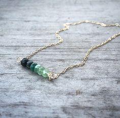 Genuine Emerald Necklace / Raw Gold Emerald /  by niccoletti