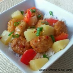 What's cooking in the burbs: Sweet and Spicy Pineapple Chicken Bowls