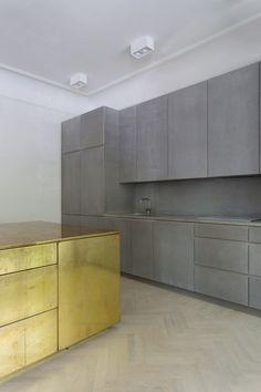 takeovertime: Gold Gray Apartment   Richard Lindvall