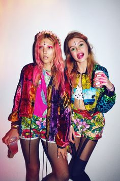 love all the colors :) love wearing contrasting prints and bright colors! #nastygal #fashion