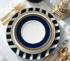 Ralph Lauren Home #Le_Grand_Hotel Collection 25 - Tableware black and gold