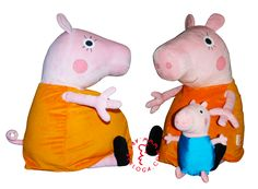 Exclusive plush toy Mother pig by Art-berloga handmade Emotional Messages, Bunny And Bear, Peppa Pig, Handmade Toys, Plush, Cartoon, Cartoons, Comic