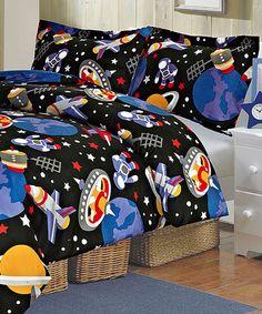 Black & Blue Lance Two-Piece Comforter Set | zulily