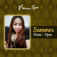 Forget all you worries in life and achieve deep relaxation as our lovely and skilled masseur, Summer, massage your exhausted body! Catch her around 10:00am - 11:00pm.  Book your next appointment via WhatsApp (65)86947588)!  Visit our website at http://vwellnessspa.com for more details Follow us on Instagram: https://www.instagram.com/vwellnessspa #vwellnessspa #spa #spasg #wellnessspa #singapore