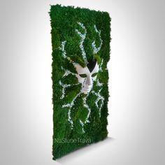 Moss Wall Art, Moss Art, Moss Decor, Vertical Garden Wall, Art Of Living, Sign Design, Resin Art, Wall Signs, Art Projects
