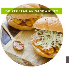 Sooo much more than just a link to vegetarian sandwiches. I will be using this link OFTEN! Vegetarian Sandwiches and so many more great vegetarian recipes. I'm sure I can alter most of these recipes to make them vegan:) Vegetarian Sandwich Recipes, Veg Recipes, Vegetarian Cooking, Cooking Recipes, Healthy Recipes, Beginner Vegetarian, Healthy Food, Grilled Recipes, Veggie Sandwich