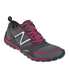 Take a look at this Gray & Burgundy WO10 Trail Running Shoe - Women by New Balance on #zulily today!