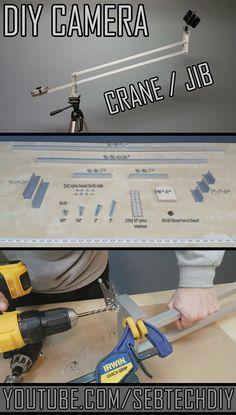 DIY Camera Crane Jib - #camera #crane #jib #diy #studio #filming #youtuber