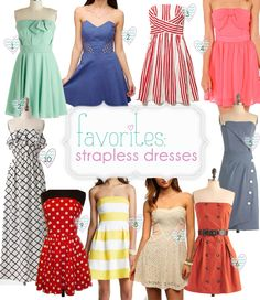 Cute Strapless dress round up!