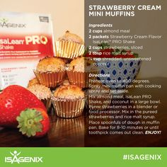 Try these Strawberry Cream Mini Muffins for a delicious alternative to your morning shake!