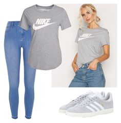 """""""Nike T-shirt"""" by jasmine077 ❤ liked on Polyvore featuring NIKE, River Island and adidas"""