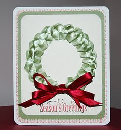 Ribbon wreath (tutorial on separate pin)