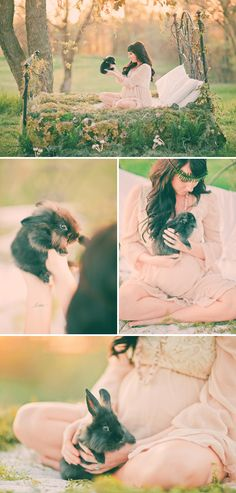 Mother Nature Inspired Maternity Shoot - The Rabbit Is So Sweet
