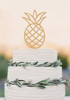 Pineapple Cake Topper Wedding Cake Topper – DokkiDesign