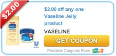 $2.00 off any one Vaseline Jelly product