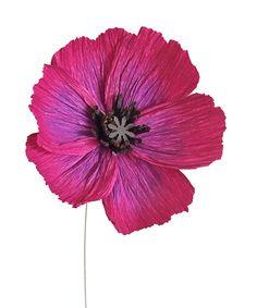 Oriental PoppyHandmade Crepe Paper Flower by 622press on Etsy