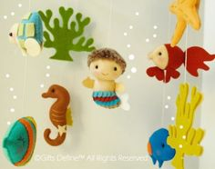 Musical Baby Mobile with Mermaid Under the Sea by GiftsDefine