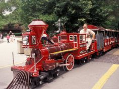 Train and Conductor at Forest Park, St. Louis Zoo, St. Louis,