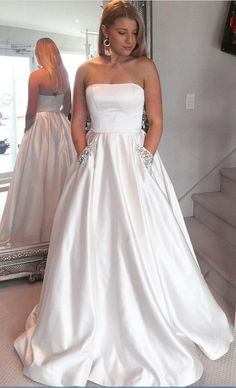 Cheap Prom Dresses uk,Buy A-Line Satin Strapless Princess Floor-length Beading with Pockets Sleeveless Prom Dresses on PromDress. Cheap Red Prom Dresses, Prom Dresses With Pockets, Simple Prom Dress, A Line Prom Dresses, Evening Dresses, Wedding Dresses, Dress Long, Party Dresses, Dress Formal