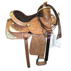 Stallion Tooled Silver Show Saddle