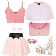 Untitled #53 by hoodkatie on Polyvore featuring polyvore fashion style maurices Lilly e Violetta Christian Louboutin Chanel
