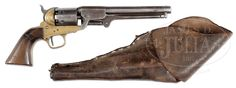 """FINE, RARE IDENTIFIED FIRST MODEL GRISWOLD CONFEDERATE REVOLVER WITH ORIGINAL """"ATLANTA ARSENAL"""" MARKED HOLSTER."""