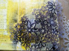 Dylan's Blog: step by step by step by step by step.....ideas for adding backgrounds: stamps, ink, and gesso