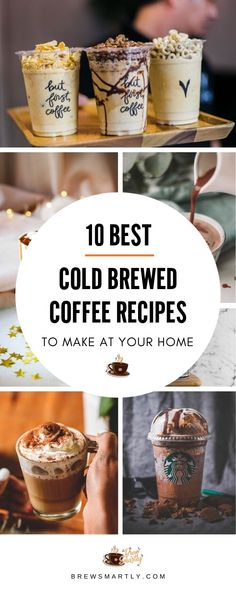 These Cold Brewed Coffee Recipes make the perfect drink for hot summer days! Try at your home and enjoy the perfect cup of coffee. Best Cold Brew Coffee, Cold Brew Coffee Recipe, Making Cold Brew Coffee, Cold Brewed Coffee, Starbucks Cold Coffee Drinks, Cold Drinks, Beverages, Ninja Coffee Bar Recipes, Coffee Drink Recipes