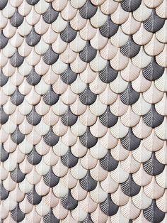 Plumage mosaic tiles by Cristina Celestino | Flodeau.com