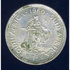1960 Shilling coin, South Africa, Silver, Elizabeth II , No reserve for Old Symbols, Euro Coins, Foreign Coins, Old Coins, Coin Jewelry, My Land, African Animals, My Childhood Memories, African History