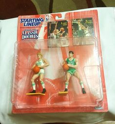 1997 LARRY BIRD KEVIN MCHALE Starting Lineup Action Figures Cards UNOPENED NBA #Kenner
