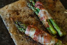 Lemon Roasted Asparagus Wrapped in Bacon | eyes bigger than my stomach