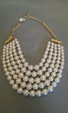 Wow!! Chunky pearl necklace.