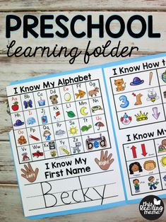 Free Preschool Learning Folder - This Reading Mama Preschool Binder, Preschool Homework, Preschool Journals, Preschool Calendar, Preschool Activities At Home, Kindergarten Learning, Free Preschool, Preschool Printables, Preschool Lessons