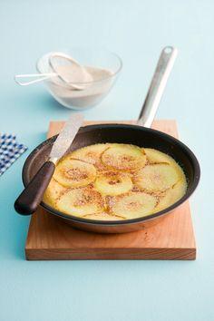 Apfel-Pfannkuchen mit Zimt-Zucker