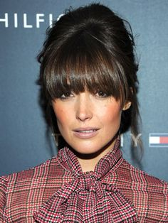 Hairstyles with bangs – The Perfect Bangs for Your Face Shapes Ombré Hair, Hair Dos, New Hair, Hairstyles With Bangs, Pretty Hairstyles, Wedding Hairstyles, Bangs Updo, Full Bangs Hairstyle, Full Fringe Hairstyles