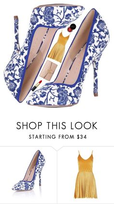 """""""Spode Shoes"""" by cocochaneljr ❤ liked on Polyvore featuring Paper Dolls, Boohoo, Gucci and Concrete Minerals"""