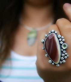 Point the Way to My Heart - Imperial Jasper Sterling Silver Ring